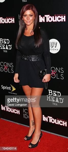 TV personality Jenni 'JWoww' Farley attends In Touch Weekly's annual 'Icons Idols' celebration at Bar Marmont on September 12 2010 in West Hollywood...