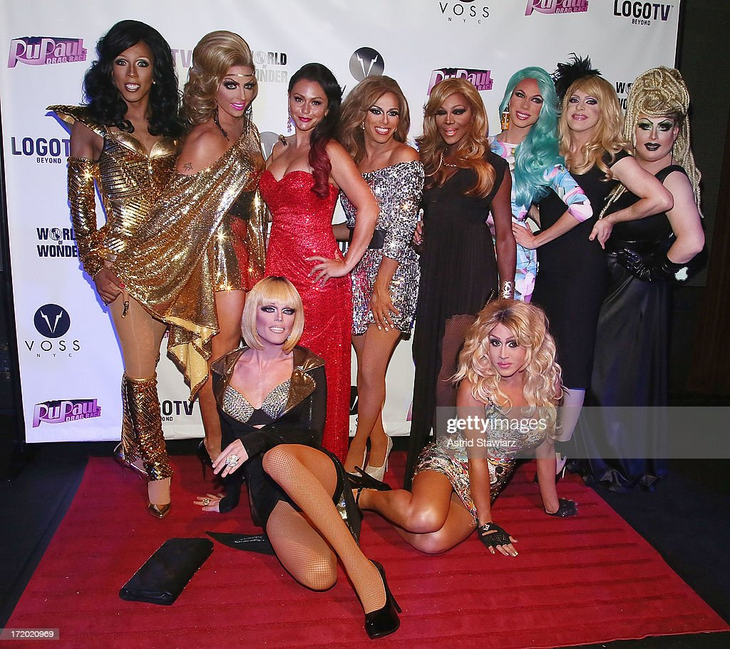 TV personality Jenni 'JWoww' Farley (2nd from L) attends Logo TV's Official Pride NYC 2013 Event at Highline Ballroom on June 30, 2013 in New York City.