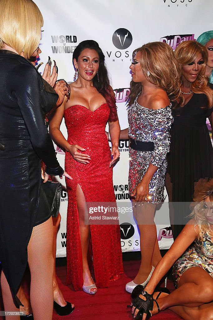 TV personality Jenni 'Jwoww' Farley (center) attends Logo TV's Official Pride NYC 2013 Event at Highline Ballroom on June 30, 2013 in New York City.