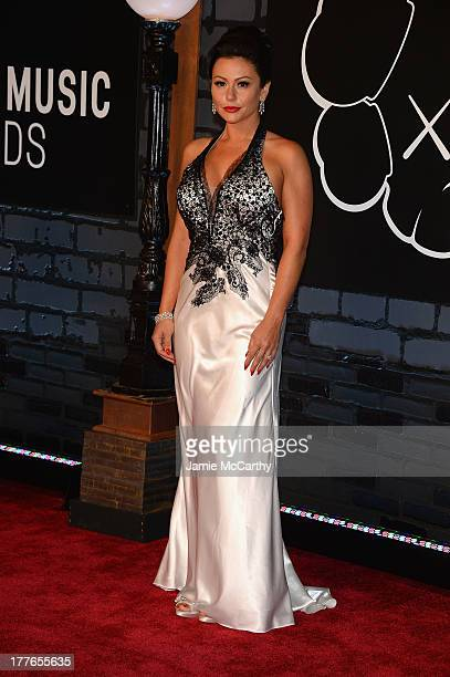 TV personality Jenni 'JWoww' Farley attends the 2013 MTV Video Music Awards at the Barclays Center on August 25 2013 in the Brooklyn borough of New...