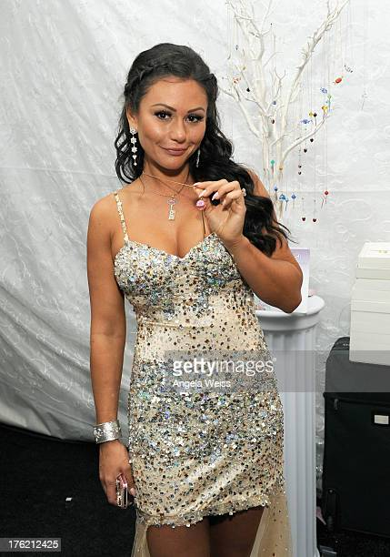 TV personality Jenni 'JWOWW' Farley attends the Backstage Creations Celebrity Retreat At Teen Choice 2013 at Gibson Amphitheatre on August 11 2013 in...