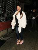TV personality Jenni 'JWOWW' Farley poses for a picture during Jenni 'JWOWW' Farley's Birthday Celebration at Drunken Monkey on February 21 2014 in...
