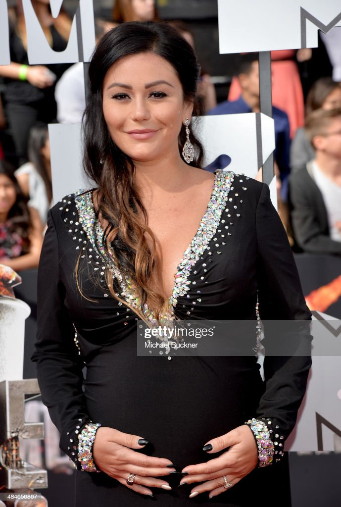 TV personality Jennifer 'JWoww' Farley attends the 2014 MTV Movie Awards at Nokia Theatre L.A. Live on April 13, 2014 in Los Angeles, California.