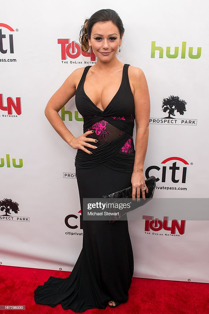 TV personality Jennifer 'JWoww' Farley attends the 'All My Children' & 'One Life To Live' premiere at Jack H. Skirball Center for the Performing Arts on April 23, 2013 in New York City.