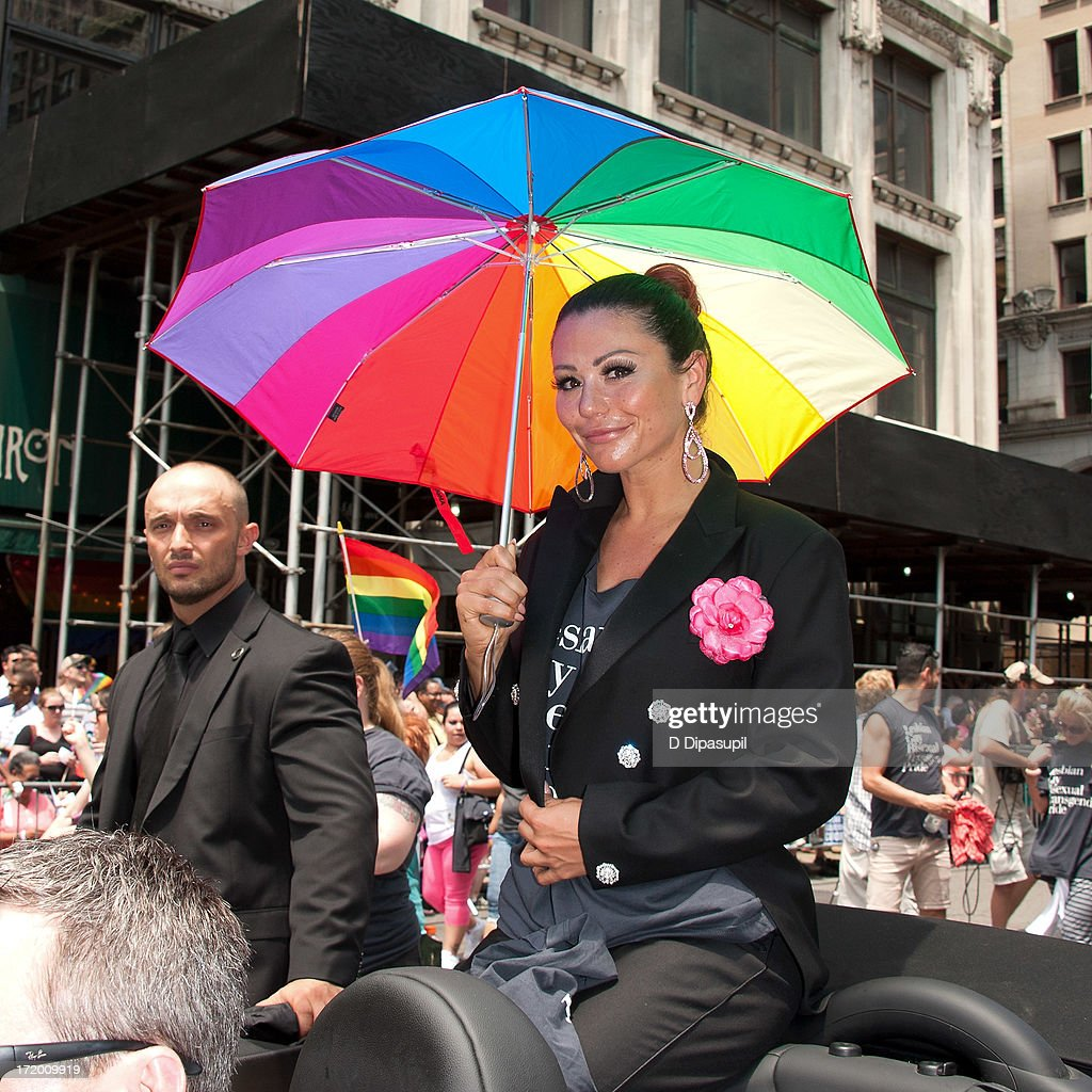 TV personality Jennifer 'JWoww' Farley attends The March during NYC Pride 2013 on June 30, 2013 in New York City.