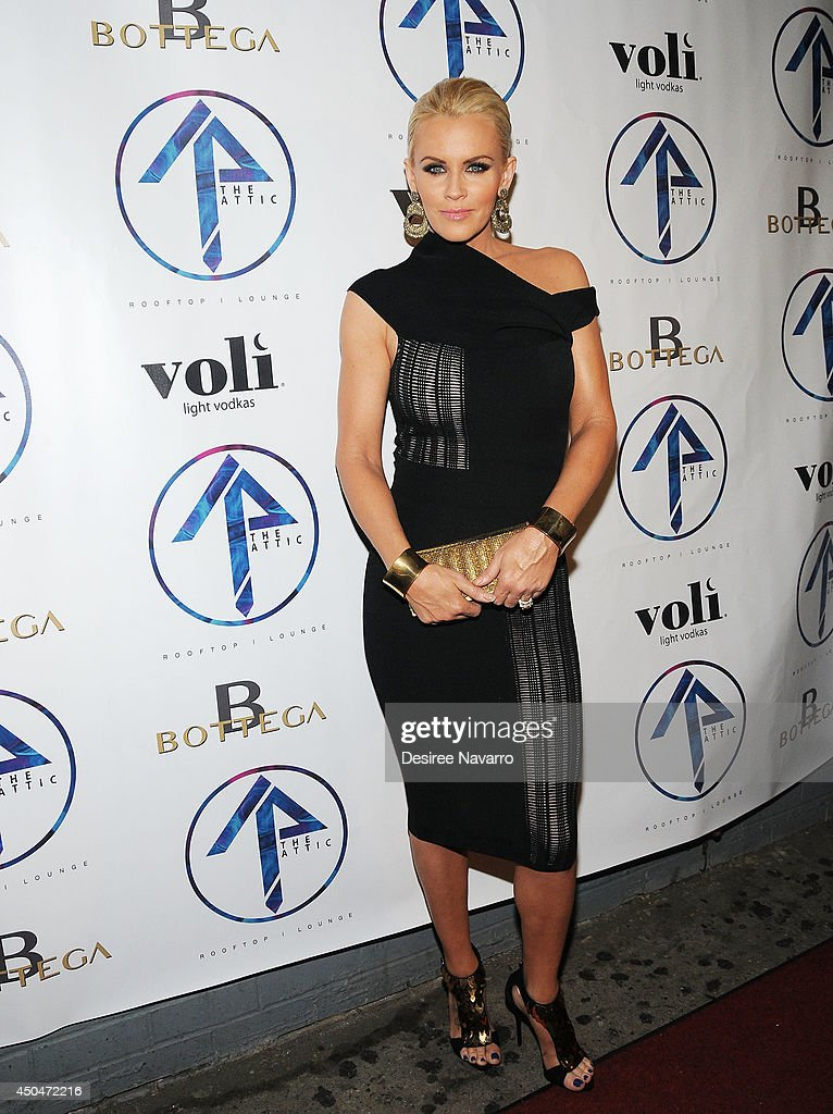 TV personality <a gi-track='captionPersonalityLinkClicked' href=/galleries/search?phrase=Jenny+McCarthy&family=editorial&specificpeople=202900 ng-click='$event.stopPropagation()'>Jenny McCarthy</a> attends the grand opening of The Attic Rooftop Lounge on June 11, 2014 in New York City.