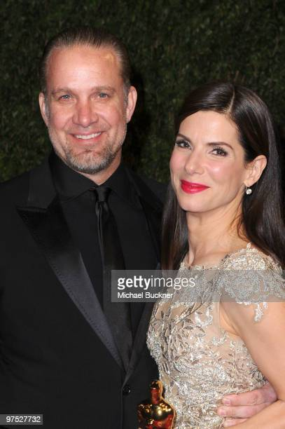 TV personality Jesse James and actress Sandra Bullock arrives at the 2010 Vanity Fair Oscar Party hosted by Graydon Carter held at Sunset Tower on...