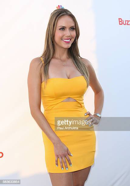 Personality Jessica Carrillo attends NBC's Olympics Social Opening Ceremony at The Jonathan Beach Club on July 26 2016 in Santa Monica California