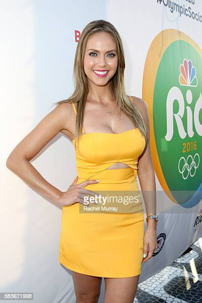 TV personality Jessica Carrillo attends the NBC Olympic Social Opening Ceremony at Jonathan Beach Club on July 26 2016 in Santa Monica California