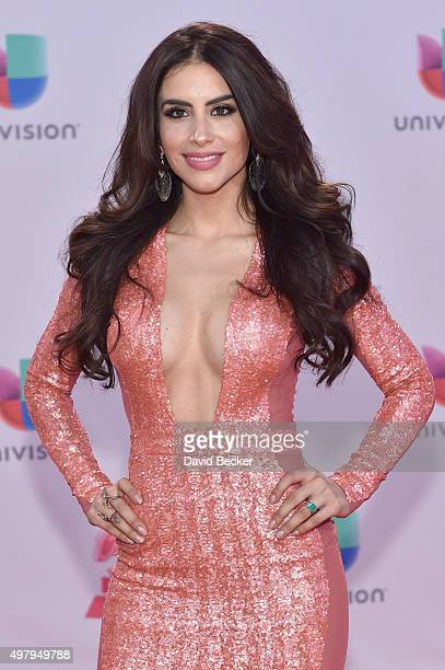 Personality Jessica Cediel attends the 16th Latin GRAMMY Awards at the MGM Grand Garden Arena on November 19 2015 in Las Vegas Nevada