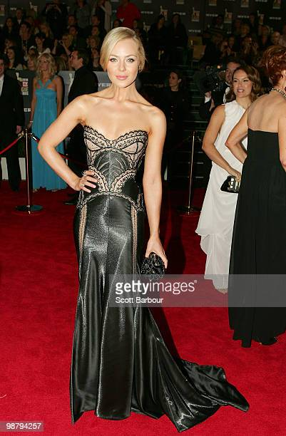 TV personality Jessica Marais arrives at the 52nd TV Week Logie Awards at Crown Casino on May 2 2010 in Melbourne Australia