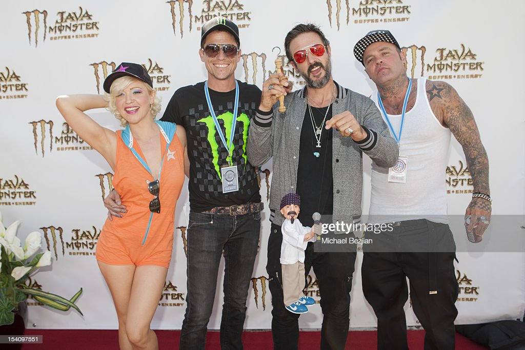 TV personality Jessica Sugar Kiper, actors Corin Nemec and David Arquette, and recording artist 'Shifty' attend David Arquette's Piece Fest - A Music and Street Festival to benefit Pico Union Housing Corp. and Graff Lab at The Graff Lab on October 13, 2012 in Los Angeles, California.