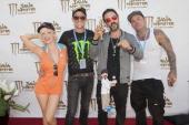 TV personality Jessica Sugar Kiper actors Corin Nemec and David Arquette and recording artist 'Shifty' attend David Arquette's Piece Fest A Music and...