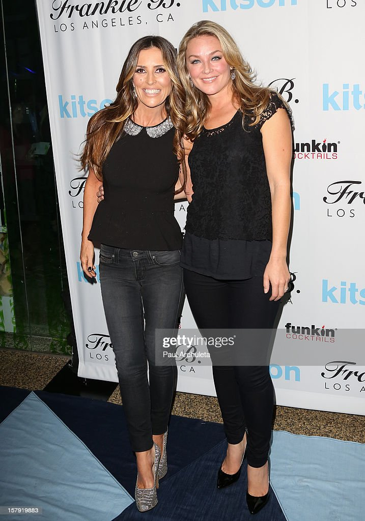 TV Personality Jillian Barberie (L) and Actress Elisabeth Rohm attend the Get Festive With Frankie B. and Kitson event at Kitson on Roberston on December 6, 2012 in Beverly Hills, California.