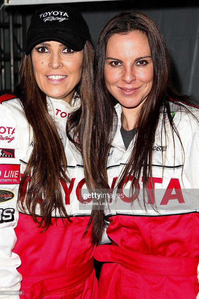 TV personality <a gi-track='captionPersonalityLinkClicked' href=/galleries/search?phrase=Jillian+Barberie&family=editorial&specificpeople=204216 ng-click='$event.stopPropagation()'>Jillian Barberie</a> Reynolds (L) and actress <a gi-track='captionPersonalityLinkClicked' href=/galleries/search?phrase=Kate+del+Castillo&family=editorial&specificpeople=751402 ng-click='$event.stopPropagation()'>Kate del Castillo</a> (R) attend the 36th annual Toyota pro/celebrity race press day on April 3, 2012 in Long Beach, California.