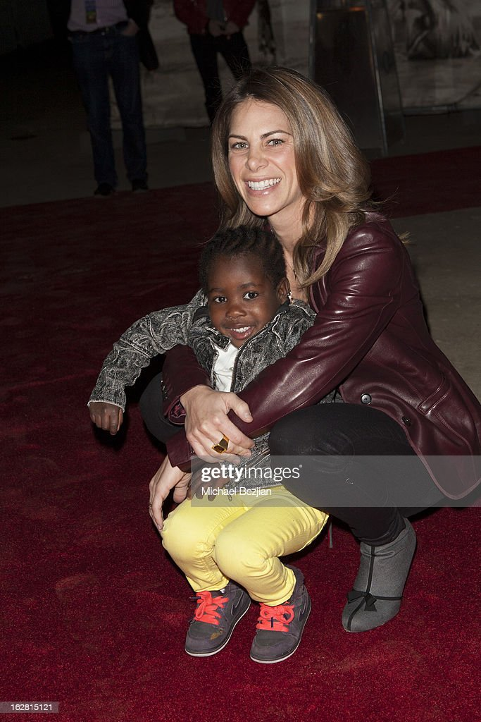 TV personality <a gi-track='captionPersonalityLinkClicked' href=/galleries/search?phrase=Jillian+Michaels&family=editorial&specificpeople=2303813 ng-click='$event.stopPropagation()'>Jillian Michaels</a> and daughter, Lukensia, attends Celebrity Red Carpet Opening For Cavalia's 'Odysseo' at Cavalia's Odysseo Village on February 27, 2013 in Burbank, California.