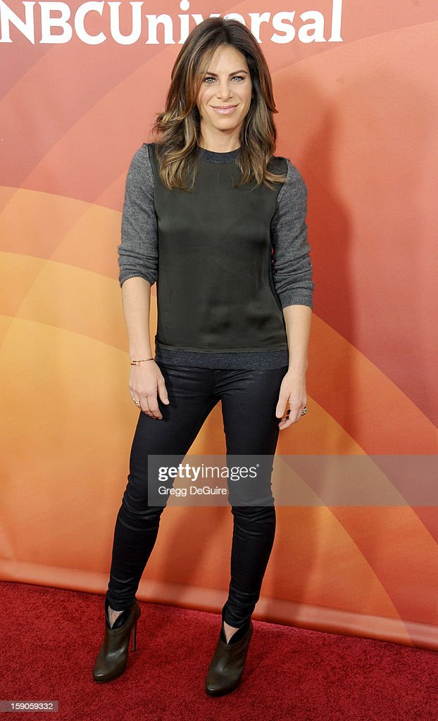 TV personality Jillian Michaels poses at the 2013 NBC Universal TCA Winter Press Tour Day 1 at The Langham Huntington Hotel and Spa on January 6, 2013 in Pasadena, California.
