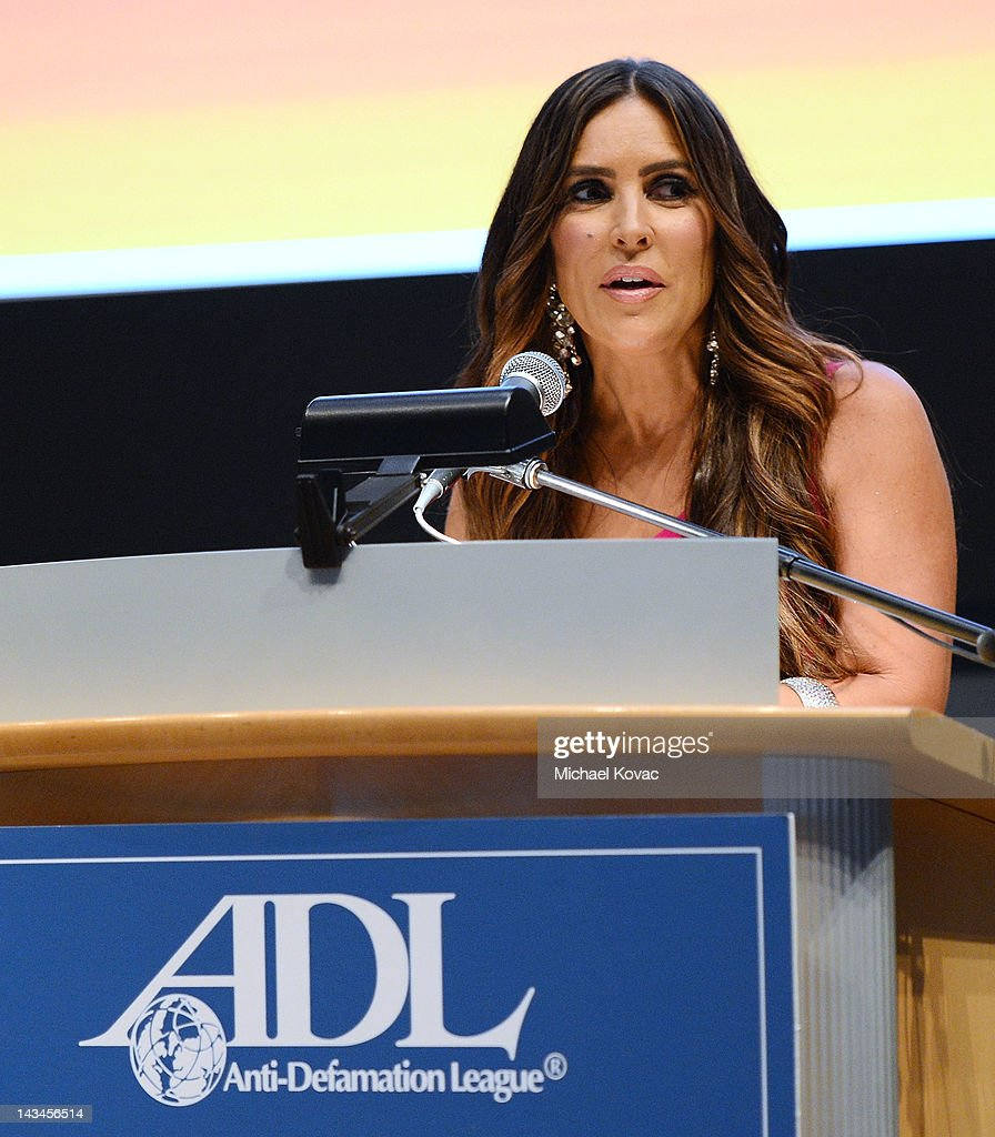TV personality Jillian Reynolds presents onstage at The Anti-Defamation League Deborah Awards at the Skirball Cultural Center on April 26, 2012 in Los Angeles, California.