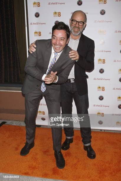 Personality Jimmy Fallon and musician Michael Stipe attend 2nd Annual Mario Batali Foundation Honors Dinner at Del Posto Ristorante on October 6 2013...