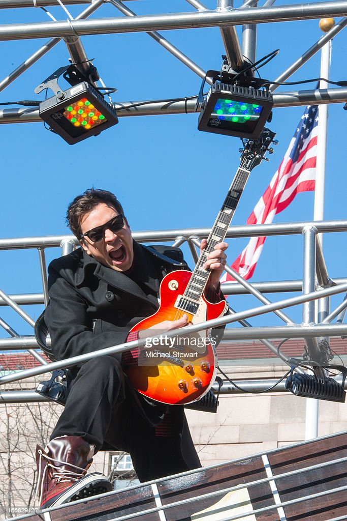 TV personality Jimmy Fallon attends the 86th Annual Macy's Thanksgiving Day Parade on November 22, 2012 in New York City.