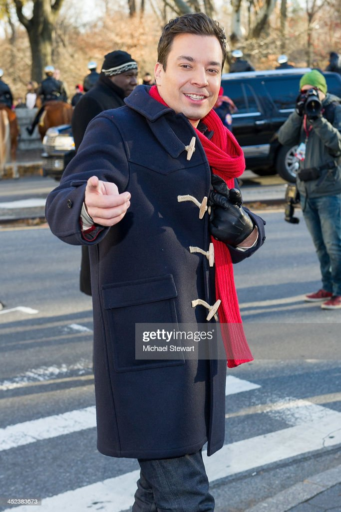 TV personality Jimmy Fallon attends the 87th annual Macy's Thanksgiving Day parade on November 28, 2013 in New York City.