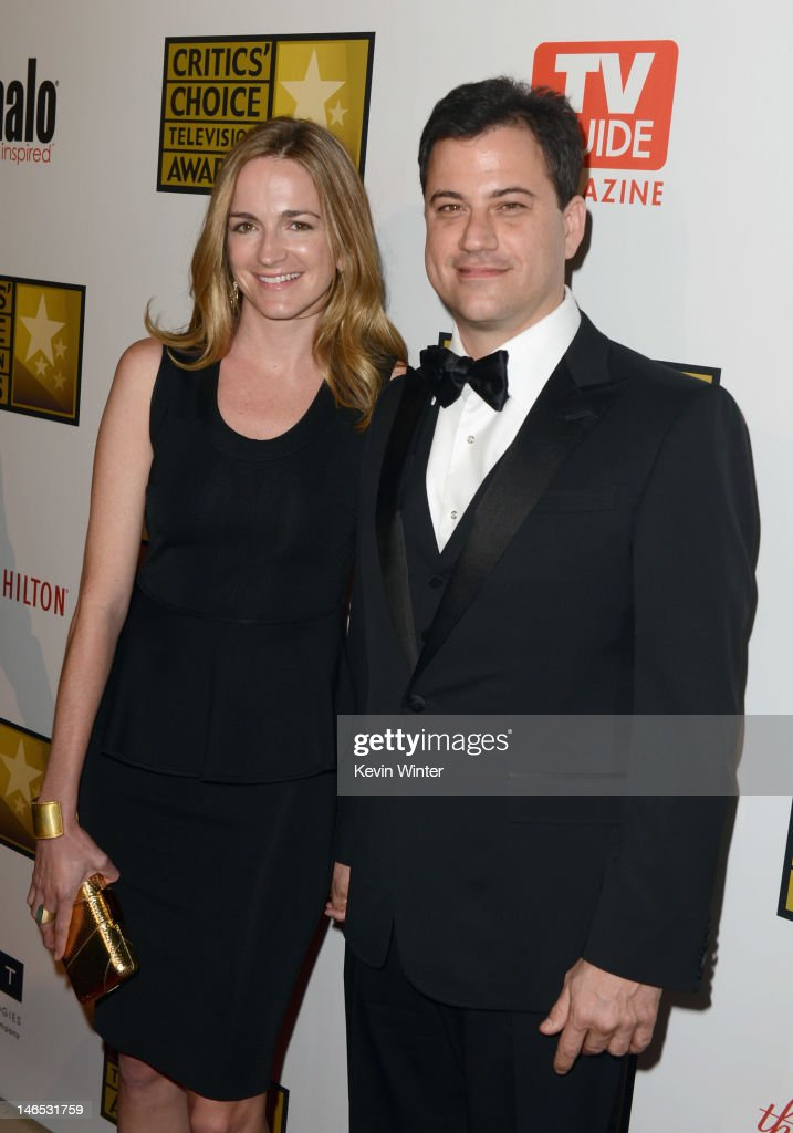 TV personality <a gi-track='captionPersonalityLinkClicked' href=/galleries/search?phrase=Jimmy+Kimmel&family=editorial&specificpeople=214115 ng-click='$event.stopPropagation()'>Jimmy Kimmel</a> (R) and writer Molly McNearney arrive at Broadcast Television Journalists Association Second Annual Critics' Choice Awards at The Beverly Hilton Hotel on June 18, 2012 in Beverly Hills, California.