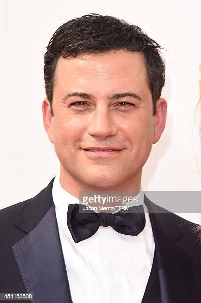 TV personality Jimmy Kimmel attends the 66th Annual Primetime Emmy Awards held at Nokia Theatre LA Live on August 25 2014 in Los Angeles California