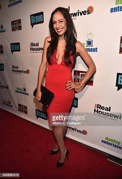 TV personality Jo De La Rosa attends the premiere party for Bravo's 'The Real Housewives of Orange County' 10 year celebration at Boulevard3 on June...