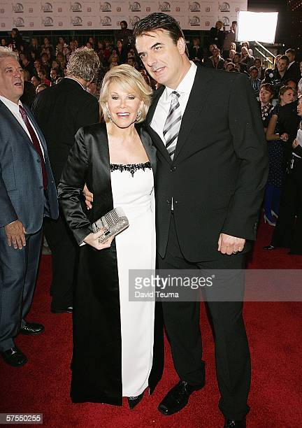 TV personality Joan Rivers and actor Chris Noth pose as they arrive for the 2006 TV Week Logie Awards at the Crown Entertainment Complex on May 7...