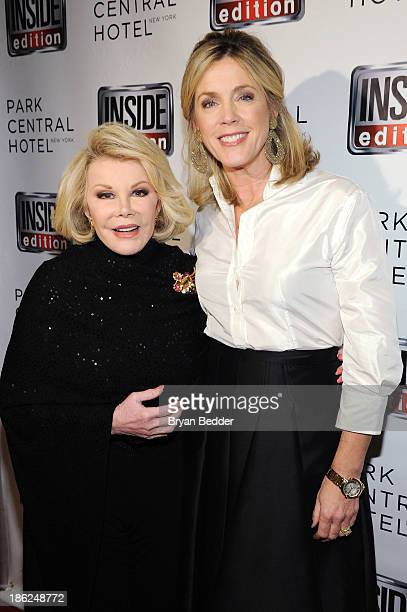 TV personality Joan Rivers and Inside Edition host Deborah Norville attend a celebration of 25 Years of Inside Edition at Park Central New York on...