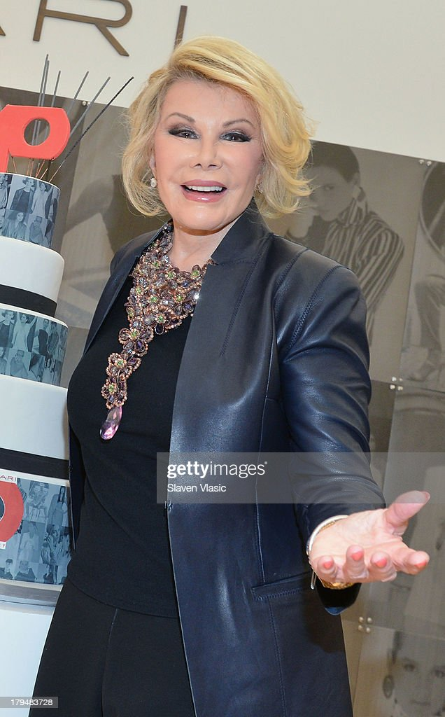 TV personality Joan Rivers attends New York City's Elie Tahari Day at Elie Tahari Pop-up Store on September 4, 2013 in New York City.