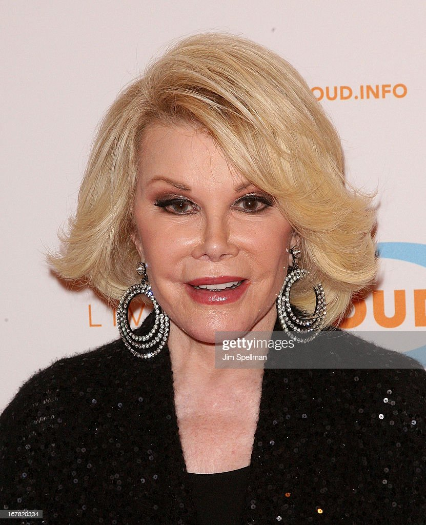 TV Personality <a gi-track='captionPersonalityLinkClicked' href=/galleries/search?phrase=Joan+Rivers&family=editorial&specificpeople=159403 ng-click='$event.stopPropagation()'>Joan Rivers</a> attends the 12th Annual Live Out Loud Gala at TheTimesCenter on April 30, 2013 in New York City.