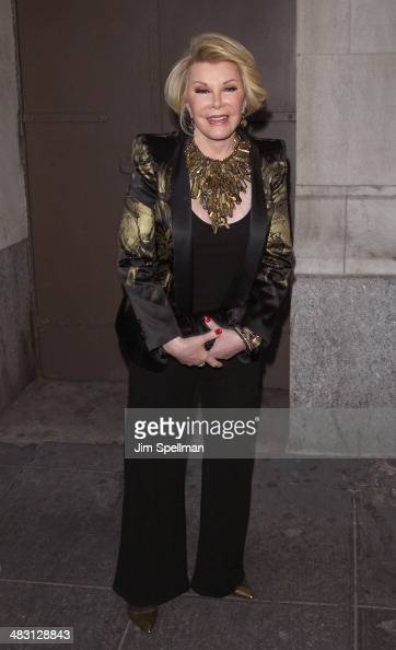 Personality Joan Rivers attends the Broadway opening night of 'The Realistic Joneses' at The Lyceum Theater on April 6 2014 in New York City