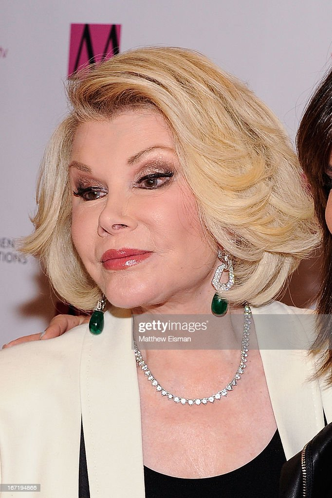 TV personality Joan Rivers attends the New York Women In Communications 2013 Matrix Awards at The Waldorf Astoria on April 22, 2013 in New York City.