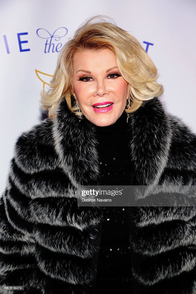 TV personality Joan Rivers attends Tie The Knot NYC at Avenue on February 27, 2013 in New York City.