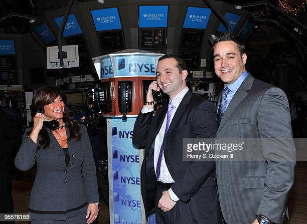Personality JoAnn Ward Brad Cutler from NBA Entertainment and TV Personality Steven Ward attend the ringing of the opening bell at the New York Stock...