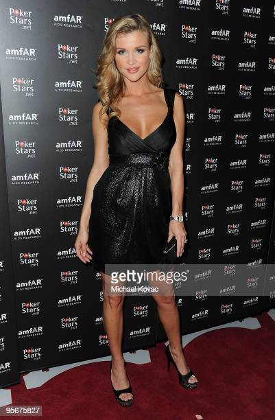 TV personality Joanna Krupa arrives at the amfAR Cocktail Party PokerStars Red Carpet And Party at Aura Nightclub on January 9 2010 in Nassau Bahamas