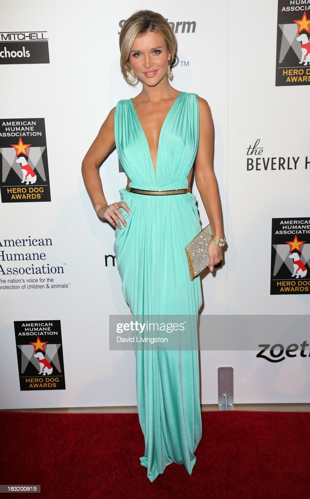 TV personality <a gi-track='captionPersonalityLinkClicked' href=/galleries/search?phrase=Joanna+Krupa&family=editorial&specificpeople=224038 ng-click='$event.stopPropagation()'>Joanna Krupa</a> attends the 3rd Annual American Humane Association Hero Dog Awards at The Beverly Hilton Hotel on October 5, 2013 in Beverly Hills, California.