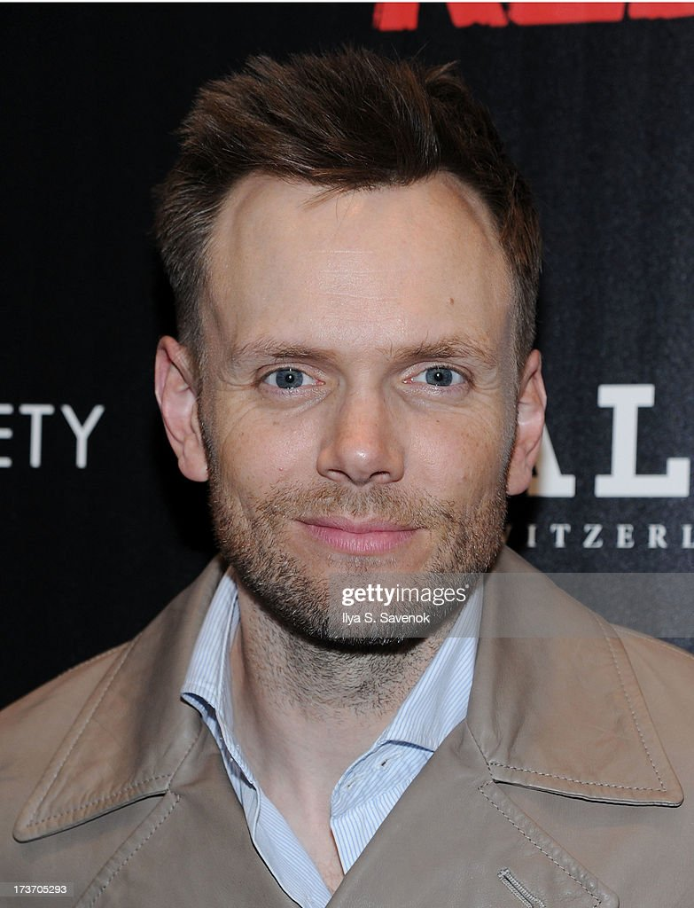 TV personality <a gi-track='captionPersonalityLinkClicked' href=/galleries/search?phrase=Joel+McHale&family=editorial&specificpeople=754384 ng-click='$event.stopPropagation()'>Joel McHale</a> attends The Cinema Society And Bally Host A Screening Of Summit Entertainment's 'Red 2' at The Museum of Modern Art on July 16, 2013 in New York City.
