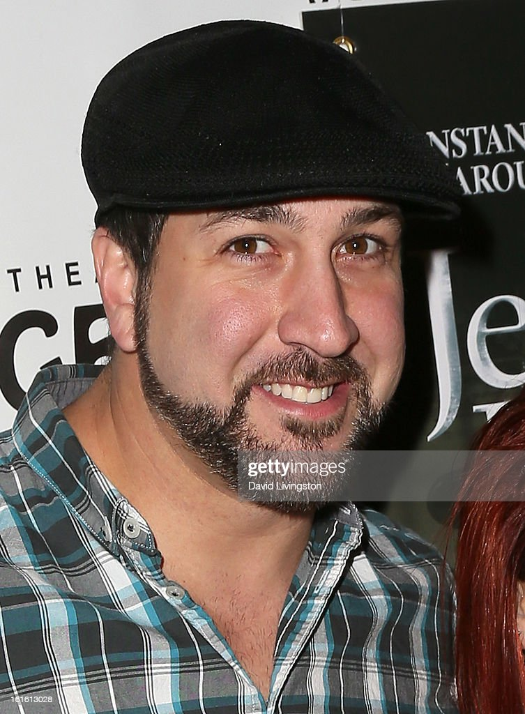TV personality <a gi-track='captionPersonalityLinkClicked' href=/galleries/search?phrase=Joey+Fatone&family=editorial&specificpeople=204237 ng-click='$event.stopPropagation()'>Joey Fatone</a> attends the opening night of 'Jekyll & Hyde' at the Pantages Theatre on February 12, 2013 in Hollywood, California.