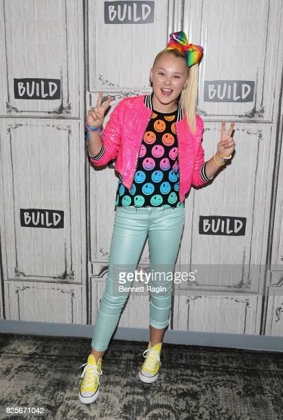 TV personality Jojo Siwa visits Build to discuss her special 'JoJo Siwa My World' at Build Studio on August 2 2017 in New York City