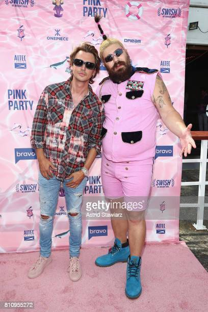 Personality Jonathan Cheban and The Fat Jew attend The PINK PARTY presented by SWISH at Pier 81 on July 8 2017 in New York City
