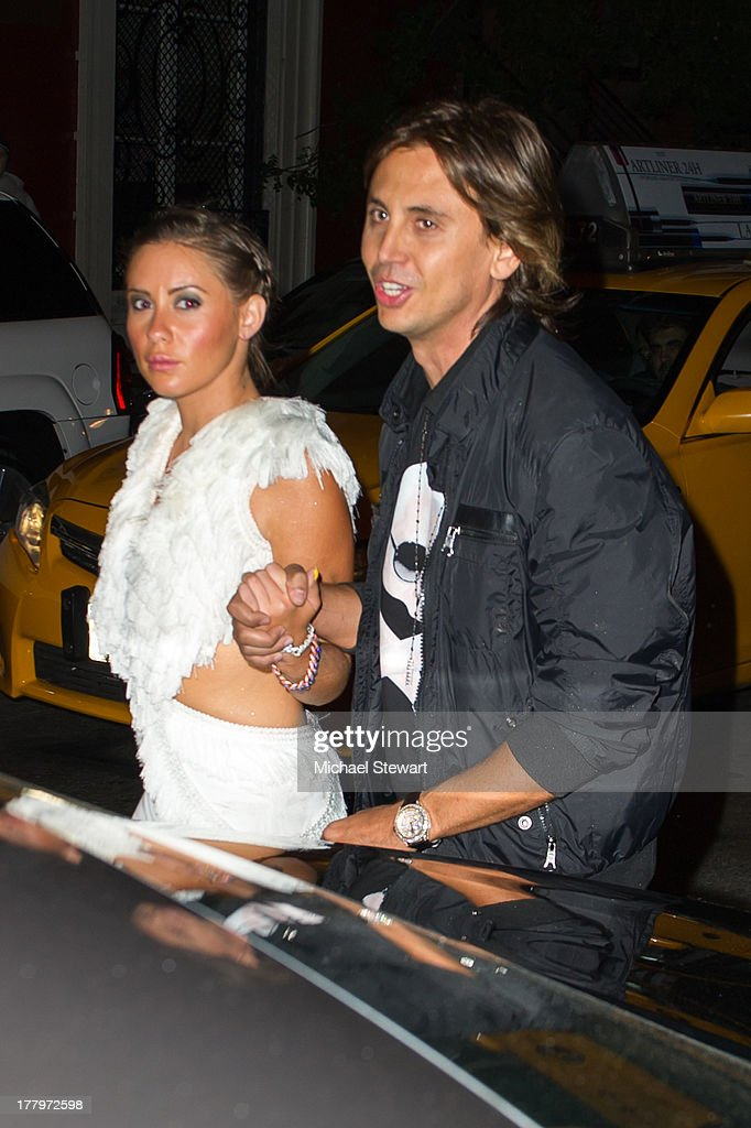 TV personality Jonathan Cheban (R) seen on the streets of Manhattan on August 25, 2013 in New York City.