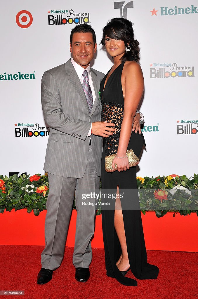 TV personality Jorge Bernal and guest attends the 2008 Billboard Latin Music Awards at the Seminole Hard Rock Hotel and Casino on April 10 2008 in...