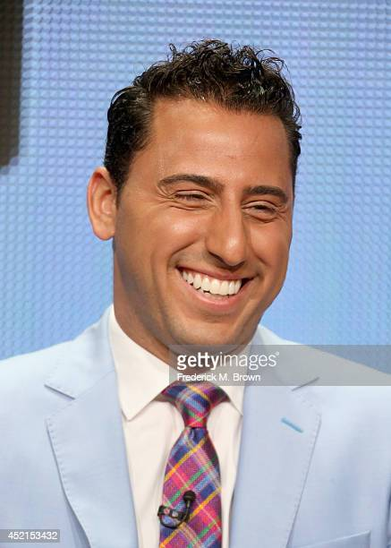 TV personality Josh Altman speaks onstage at the 'Million Dollar Listing' panel during the NBCUniversal Bravo portion of the 2014 Summer Television...