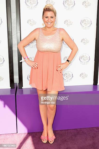 TV personality Josie Goldberg arrives at the 30th Annual Breeders' Cup 'Songs in The Saddle' at Santa Anita Park Racetrack on November 2 2013 in...