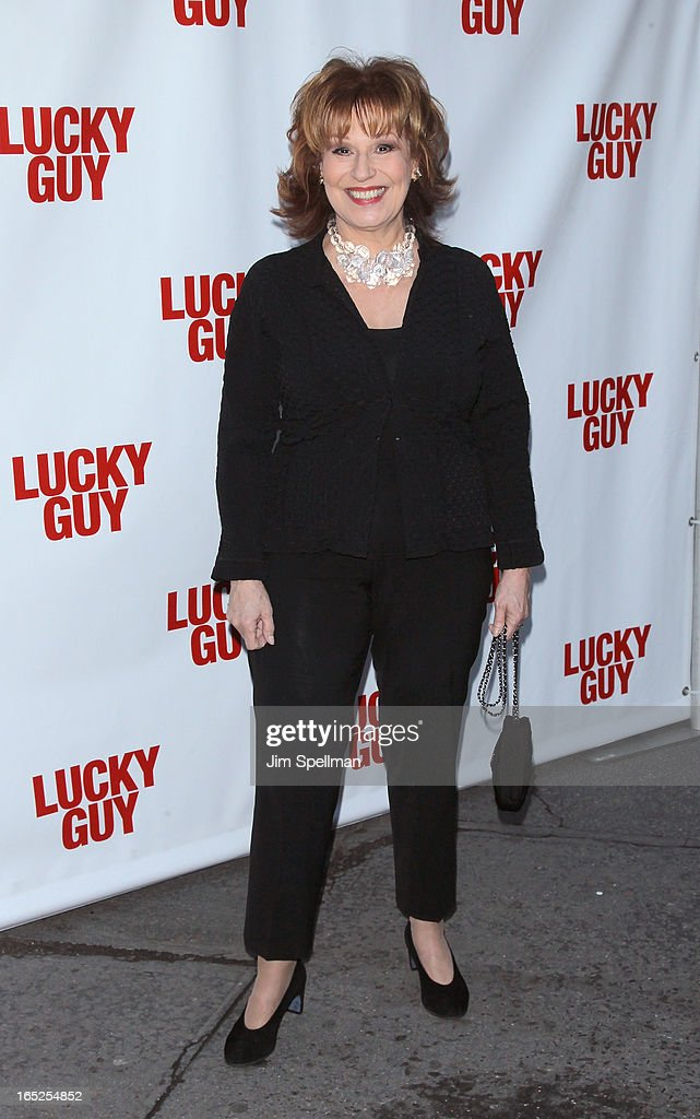 TV Personality Joy Behar attends the 'Lucky Guy' Broadway Opening Night - Arrivals & Curtain Call at The Broadhurst Theatre on April 1, 2013 in New York City.