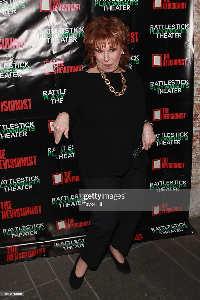 TV personality Joy Behar attends 'The Revisionist' Opening Night at Cherry Lane Theatre on February 28, 2013 in New York City.