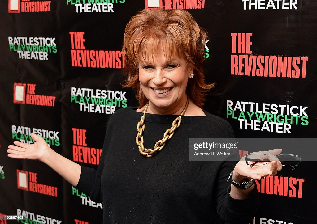 TV personality <a gi-track='captionPersonalityLinkClicked' href=/galleries/search?phrase=Joy+Behar&family=editorial&specificpeople=214608 ng-click='$event.stopPropagation()'>Joy Behar</a> attends 'The Revisionist' opening night at Cherry Lane Theatre on February 28, 2013 in New York City.