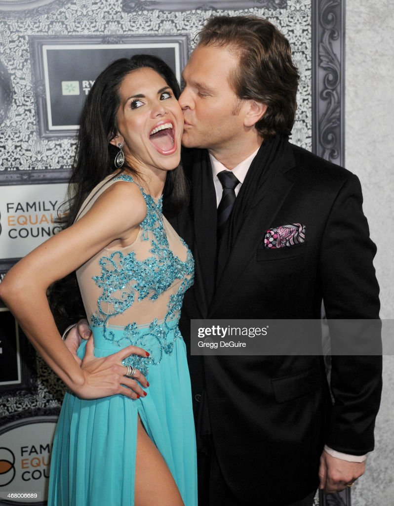 TV personality Joyce Giraud and husband Michael Ohoven arrive at the Family Equality Council's Annual Los Angeles Awards Dinner at The Globe Theatre...